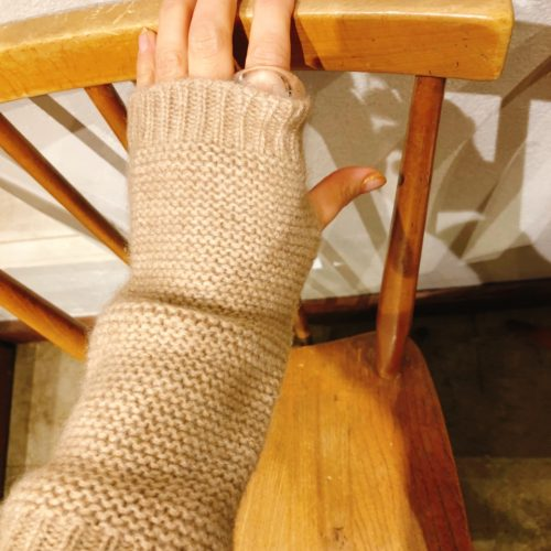 Scotland cashmere Gloves(waffle)