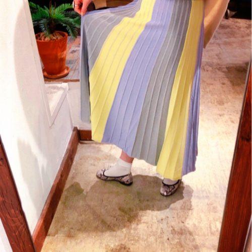 STELLA CIFFON タックプリーツスカート